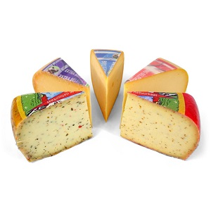 Vähärasvaiset gouda-juustot