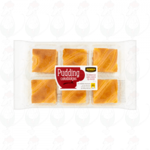 Huismerk Pudding Cakeblokjes 300g