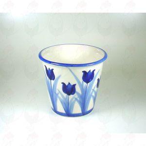 Delft Blauwe Vaas Pot Tulp 13 x 15 cm