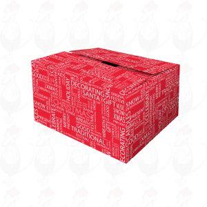 Lähetyslaatikko – joulun punainen toivelaatikko