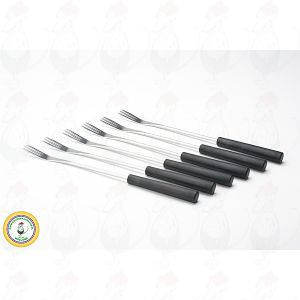 Fondue forks with black handles