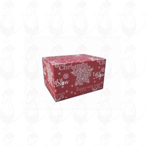 Lähetyslaatikko – joululaatikko, punainen