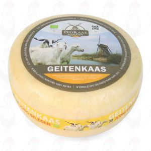 Ekologinen vuohenjuusto | Kokonaiset juusto +/- 5,4 kilo