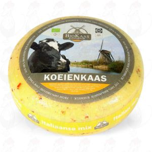Organic Herbs de Provence cheese | Entire cheese +/- 5,4 kilo / 11.9 lbs