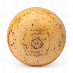 Gouda Italian Herbs Pounds Farmers Cheese   +/- 400 grammes / 0.88 lbs
