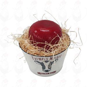 Bucket with Edam cheese