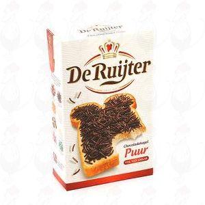 De Ruiter chocoladehagel Puur - 380 gram