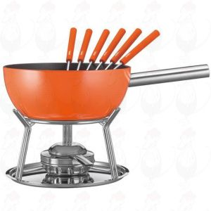 Cheese Fondue Set Spring Alu induction Orange