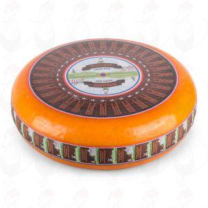 Vanha Gouda-juusto | Korkealuokkainen | Kokonaiset juusto +/- 11 kilo