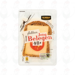 Sliced Gouda cheese Semi Matured 48+ | 400 grams in slices