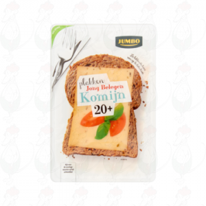 Sliced cheese Gouda Semi Matured 20+ Cumin | 190 grams in slices