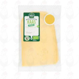 Sliced Organic Cheese Young 48+ | 75 grams in slices
