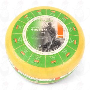 Young Gouda Organic Biodynamic cheese - Demeter | Entire cheese 5 kilo / 11 lbs
