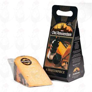 Vanha Amsterdam-juusto lahjapaketissa - +/- 1 kiloa - 2,2 paunaa juustoa
