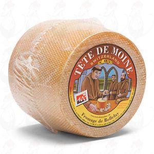 Tête de Moine – kokonainen juusto | +/- 850 grammaa - 1.87 paunaa