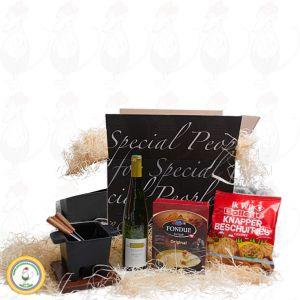 Monipuolinen tapas-fonduepannu lahjapaketissa – musta