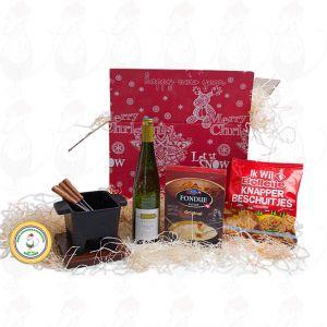 Monipuolinen tapasfondue lahjapaketti - joulu