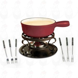 Swissmar Lugano Red - Cheese fondue set