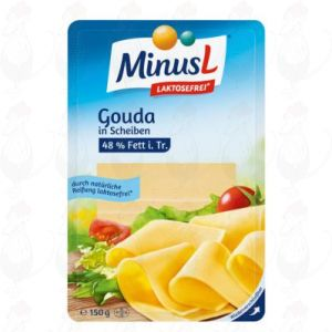 Sliced MinusL Lactosefree Gouda Cheese | 175 grams in slices