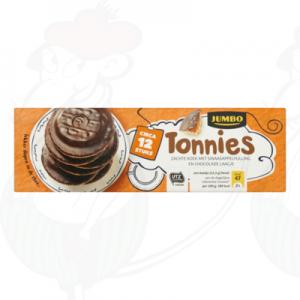 Huismerk Tonnies Zachte Koek met Sinaasappelvulling en Chocolade Laagje Circa 12 Stuks 150g
