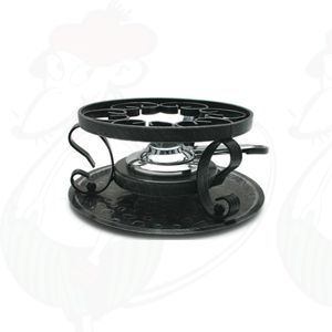 Iron base for fondue pot
