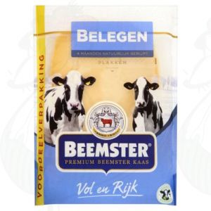 Sliced cheese Beemster Matured Premium 48+ | 250 grams in slices