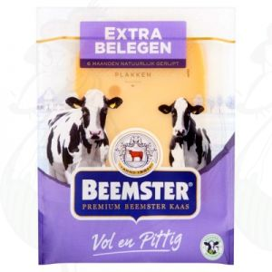 Sliced cheese Beemster Extra Matured Premium 48+ | 150 grams in slices