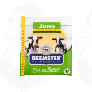 Sliced cheese Beemster Young Premium 48+ | 250 grams in slices