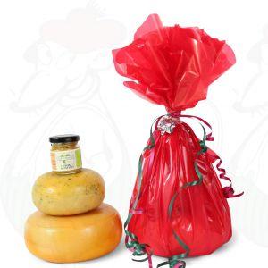 Maalaisjuusto- ja sinappilahja, punainen