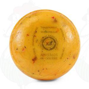 Gouda Paunamittainen tomaatti-oliivi-maalaisjuusto | Korkealuokkainen | +/- 400 grammaa / 0.88 paunaa