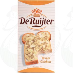 De Ruijter white chocolate flakes