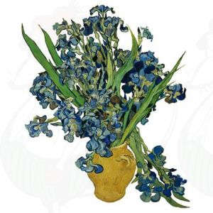 Van Gogh Irises Window Decal - Flat Flower - 30 x 37 cm