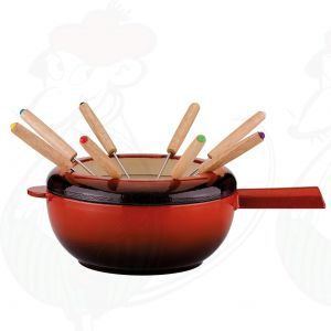 Fondue Pot Saas-Fee | Red