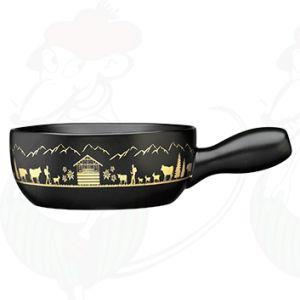 Fonduepot Caquelon Montana black / gold