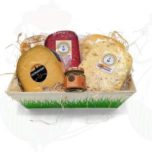 Gouda Cheese wooden basket