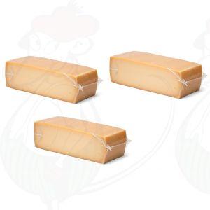 3 X Ikääntyneen Gouda-juusto | Korkealuokkainenn palanen | +/- 3,5 Kilo