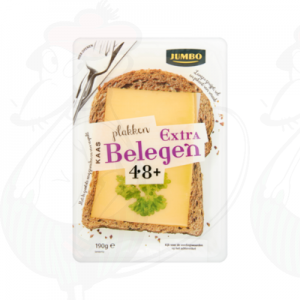 Sliced Gouda Cheese Extra Matured 48+ | 190 grams in slices