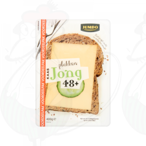 Sliced Gouda cheese Young 48+ | 400 grams in slices