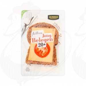 Sliced cheese Gouda Semi Matured 20+ | 190 grams in slices