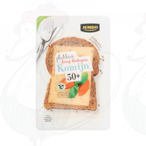 Sliced cheese Gouda Semi Matured 30+ Cumin | 190 grams in slices