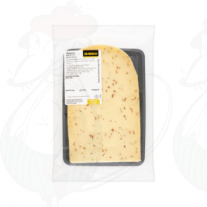Sliced cheese Wapenaer with Cumin 48+ | 200 grams in slices