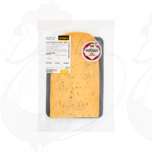 Sliced cheese Wapenaer Old Cumin 48+ | 200 grams in slices