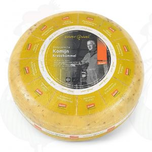Cumin Gouda Organic Biodynamic cheese - Demeter | Entire cheese 5 kilo / 11 lbs