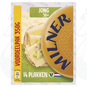 Sliced Milner Cheese Young 30+ | 350 grams in slices